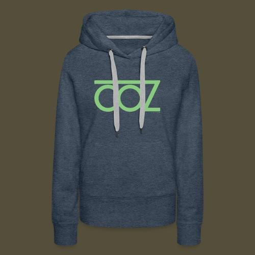 coz_logo_lightgreen - Women's Premium Hoodie