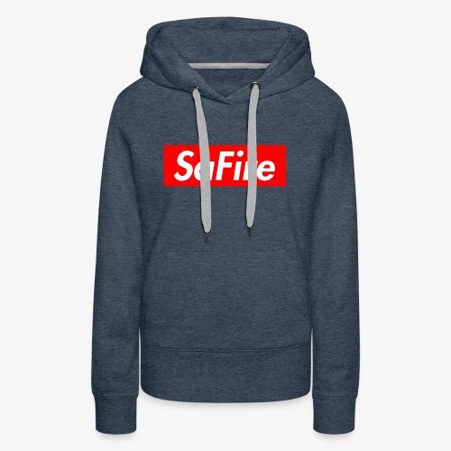 SaFire box logo tee - Women's Premium Hoodie