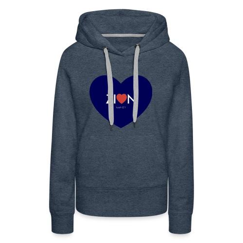 Zion in my heart/ I Won't Keep Silent - Women's Premium Hoodie