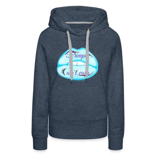 Blue Glitter Pimpin Ain't Easy - Women's Premium Hoodie