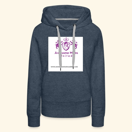 Awesome Moms United logo shirt - Women's Premium Hoodie