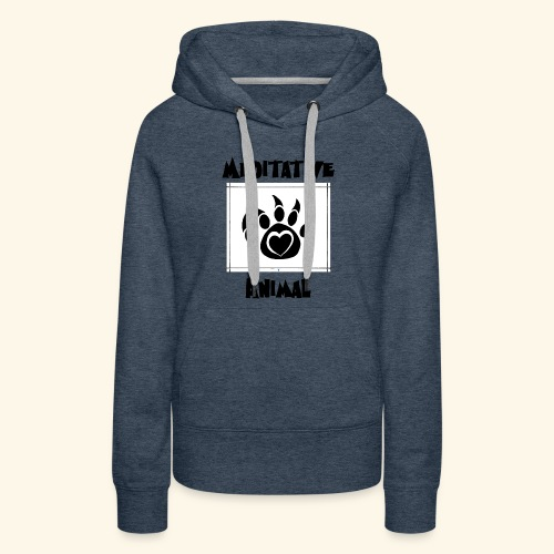 Paw Logo with Text and transparency - Women's Premium Hoodie