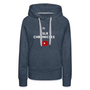 The DSLR Chronicles Tee (white letters) - Women's Premium Hoodie