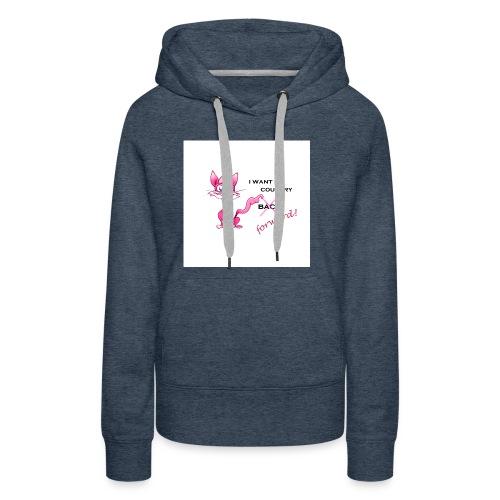 pink pussy forward tee - Women's Premium Hoodie