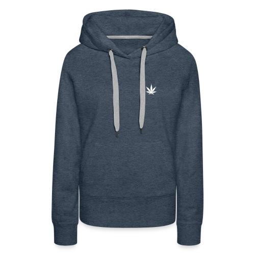 Cannabis Leaf Small Marijuana Logo - Women's Premium Hoodie