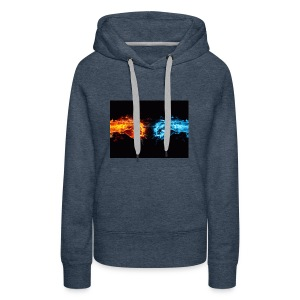 fire fist vs water fist DPOY Logo - Women's Premium Hoodie