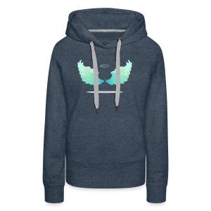 Angel wings with nimbus - Women's Premium Hoodie