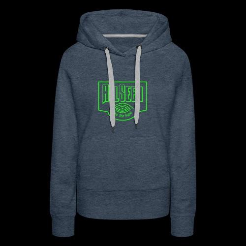 Green AllSeen Logo - Women's Premium Hoodie