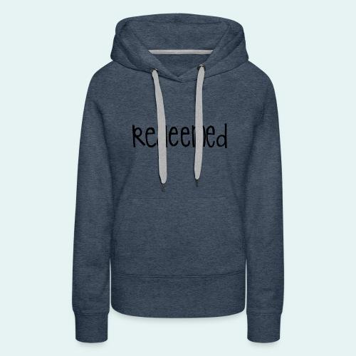Handwritten REDEEMED Design - Women's Premium Hoodie