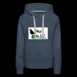 WHAT'S THE TEA? (White Background) - Women's Premium Hoodie