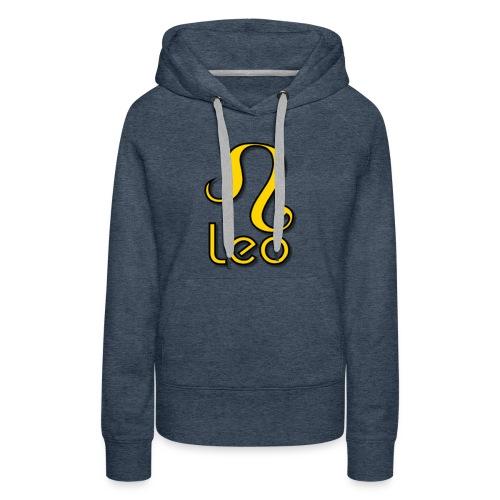 zodiac leo yellow - Women's Premium Hoodie