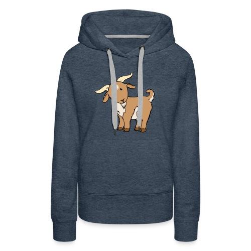 Cute Brown Goat - Women's Premium Hoodie