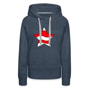 Patriot-1 Emblem - Women's Premium Hoodie