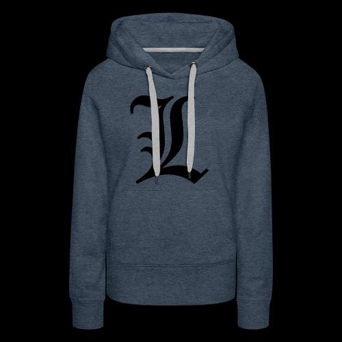 L lettering - Women's Premium Hoodie