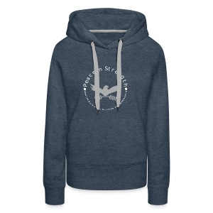 Peace_In_Strength_Grey_whiteLetter - Women's Premium Hoodie