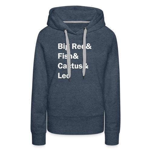 Phish inspired shirt with band member nicknames - Women's Premium Hoodie