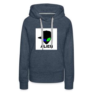 ALIEN LOGO - Women's Premium Hoodie