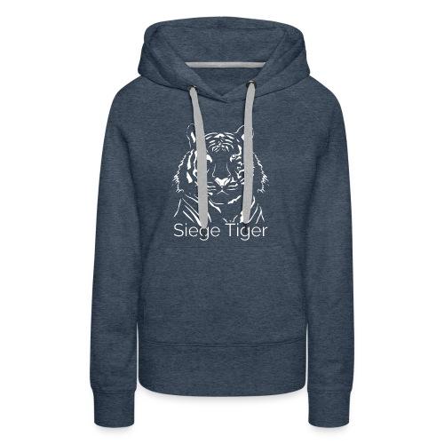 Siege Tiger White - Women's Premium Hoodie