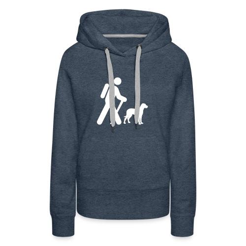 Hiking Man & Dog - Women's Premium Hoodie