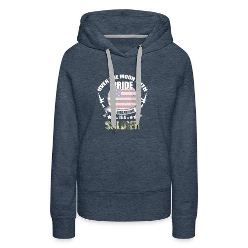 Great Gift For Soldier Girlfriend. Shirt From men - Women's Premium Hoodie