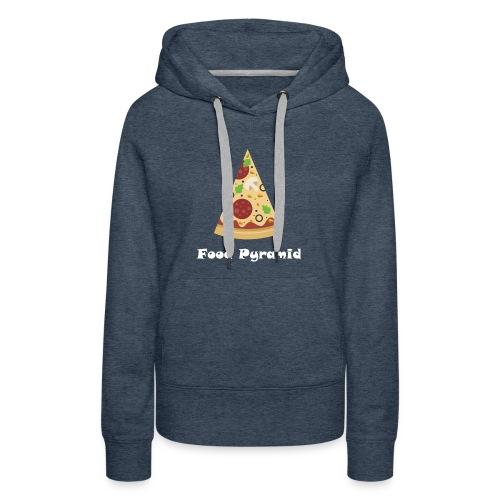 My Food Pyramid, Food Pyramid Shirt, Pizza, Pizza - Women's Premium Hoodie