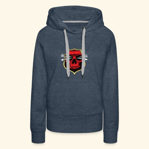 Design of red bone T-shirts - Women's Premium Hoodie