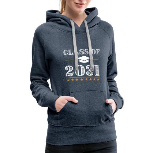 Class of 2031 T-Shirt Grow With Me - Women's Premium Hoodie
