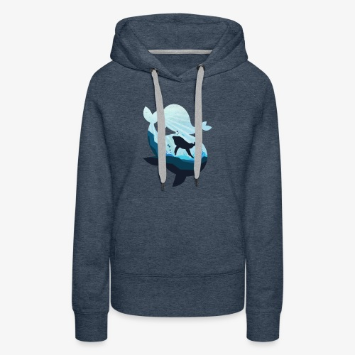 Mighty Whale and the Sea Unisex Cool T-Shirt - Women's Premium Hoodie