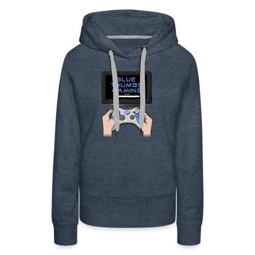 Blue Thumbs Gaming: Gamepad Logo - Women's Premium Hoodie