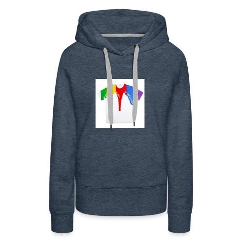 tshirt printing for kids paint design 100683 - Women's Premium Hoodie