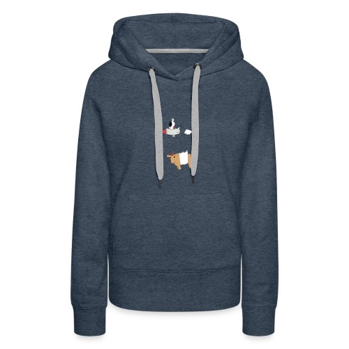 Space bunny with take out - Women's Premium Hoodie