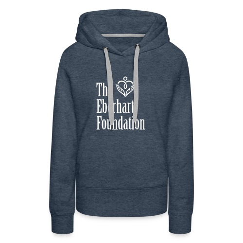 The Eberhart Foundation square logo white - Women's Premium Hoodie