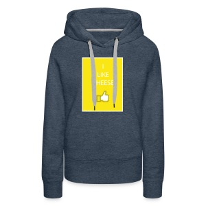 i like cheese - Women's Premium Hoodie