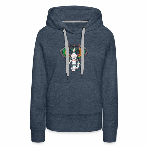 H&F Market high beautiful coloured elephant design - Women's Premium Hoodie
