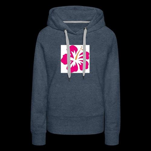 pink hibiscus hoodie - Women's Premium Hoodie