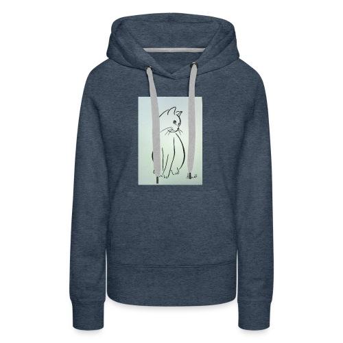 9ee232d2cb0d509fa6191e9fe868e6ec this a cat design - Women's Premium Hoodie