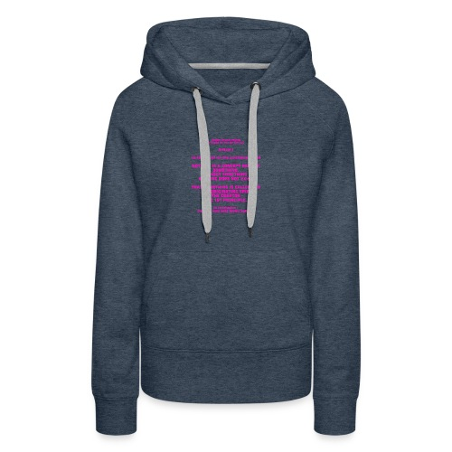 Proof for the Existence of God - Women's Premium Hoodie