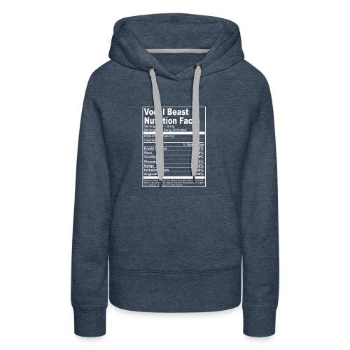 Vocal Nutrition White on Blk Streetwear - Women's Premium Hoodie