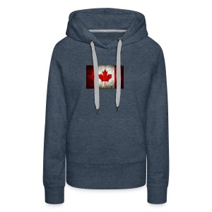 canada flag grunge - Women's Premium Hoodie