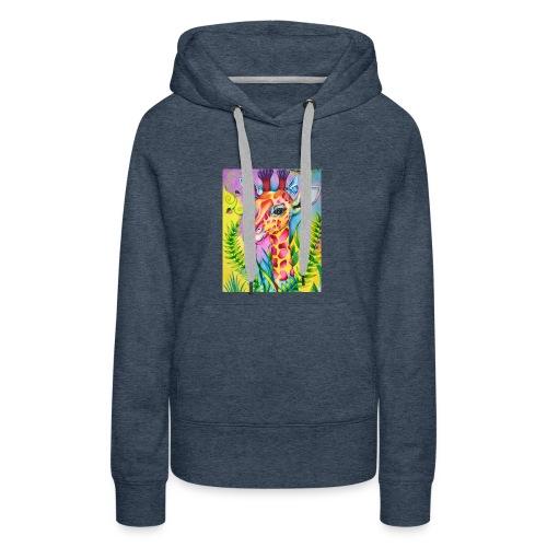 Spring Giraffe Hoodie - Women's Premium Hoodie