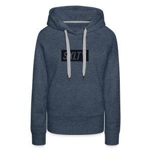 *Dark Blue SXLTY Logo* REGULAR TSHIRT. - Women's Premium Hoodie