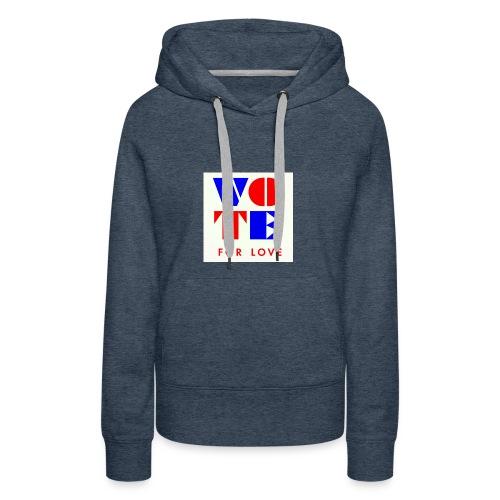 vote4love-sample - Women's Premium Hoodie