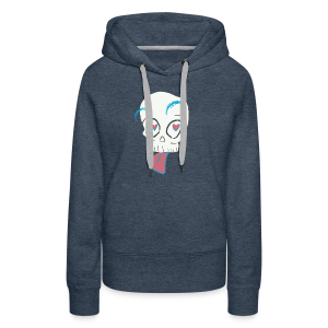 Pull out the tongue skull - Women's Premium Hoodie