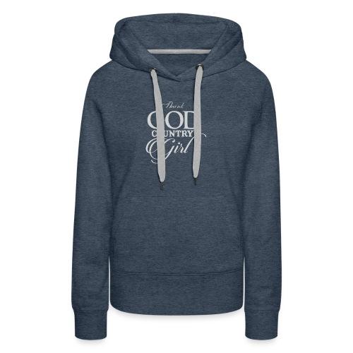 Thank God Funny Logo - Women's Premium Hoodie