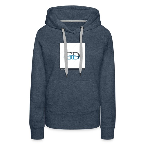 stock vector gd initial company blue swoosh logo 3 - Women's Premium Hoodie