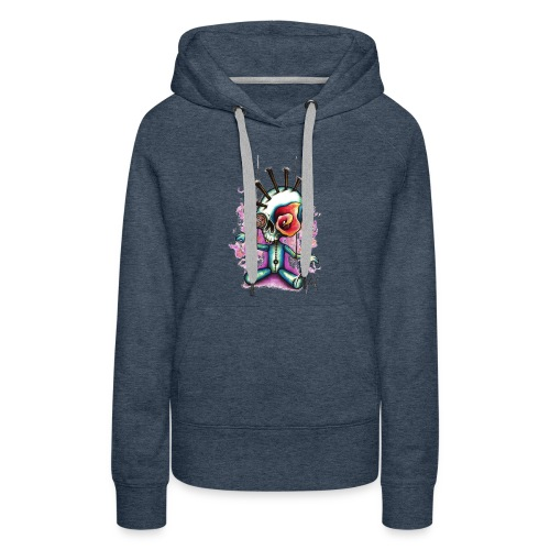 Punkpuppet Skull - Women's Premium Hoodie