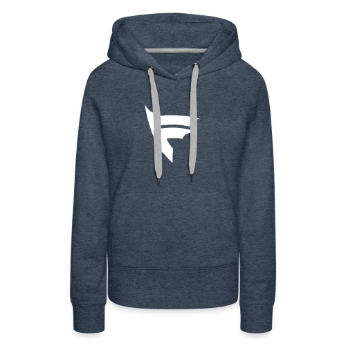 the f white - Women's Premium Hoodie
