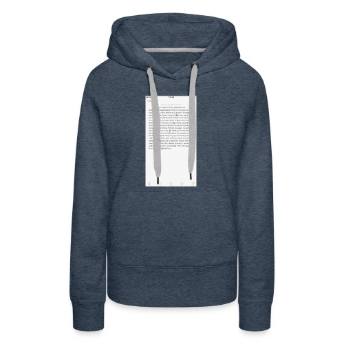 Text from a Football Commit - Women's Premium Hoodie