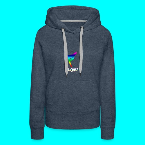 Multi-Colour Flowz Logo With Text - Women's Premium Hoodie
