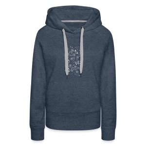 Floral and Butterflys_white - Women's Premium Hoodie